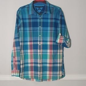 Tommy Hilfiger plaid beautifull shirt long sleeve